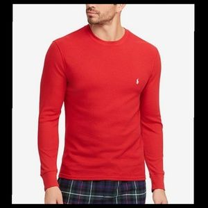 Polo Ralph Lauren Red Thermal Top